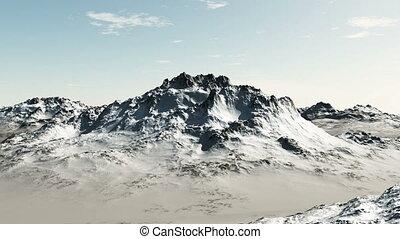 montagne, animation, vol