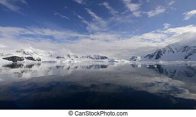 montagne, antarctique, vue
