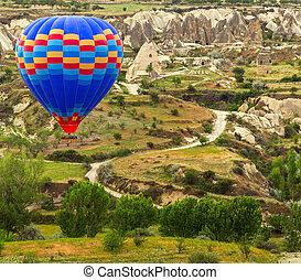 montagne, balloon, air