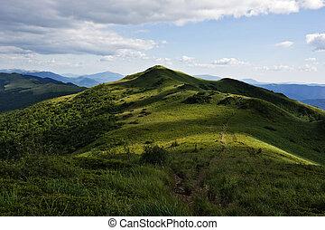 montagne, bieszczady, verde