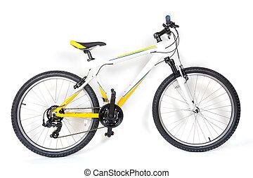 montagne, blanc, vélo, fond