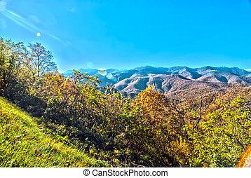 montagne blu, cresta, nord carolina