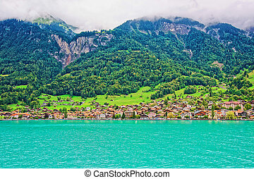 montagne, brienzer, panorama, lac, rothorn, suisse, berne, brienz