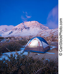 montagne, campeggio