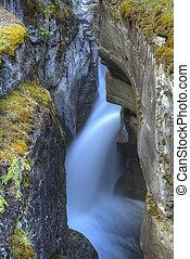 montagne, cascata, roccioso, canadese