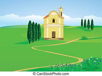 montagne, chapelle