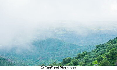 """montagne, climat, change., peaks., réchauffement planète, """"mist, temps, couverture, forecast"""""""
