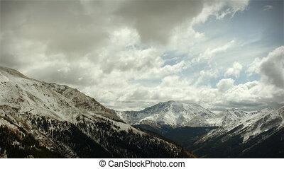 montagne, colorado, looping!, neige, tôt, (1120), orage, passe