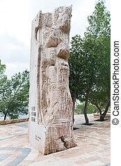montagne, commémoratif, nebo, pierre, moïse, stela