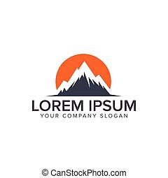 montagne, concept, conception, gabarit, logo