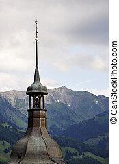 montagne, contro, cappella