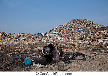 montagne, déchets