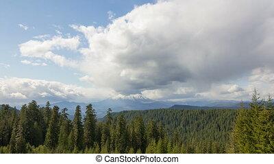 montagne, défaillance, nuages, temps