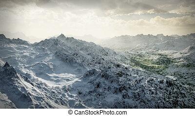 montagne, désert, neige, glaciers, (1058)