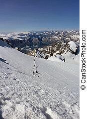 """montagne, dernier, étendue, portée, """"big, alpinistes, sommet, paradise"""", escalade"""