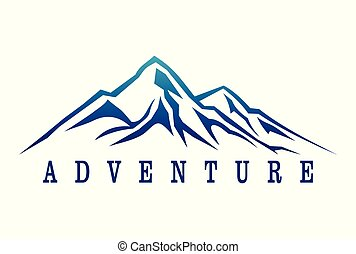 montagne, dsign, aventure, logo