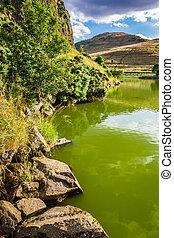 montagne, ecosse, lac, vue