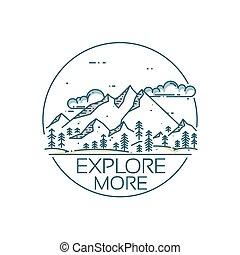 montagne, esplorazione, card.