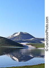 montagne, et, reflet, dans, a, lac