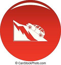 montagne, icône, vecteur, rouges, accident