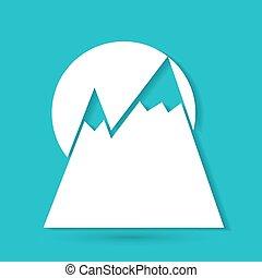 montagne, icône