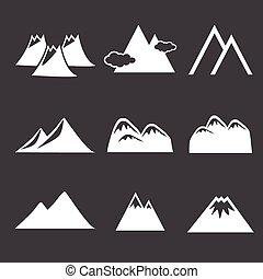 montagne, icônes