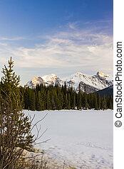 montagne, in, canada's, diaspro, parco