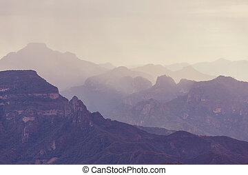 montagne, in, messico