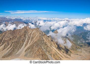 montagne, inverno, picchi