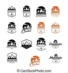 montagne, logo