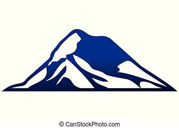 montagne, logo, dsign, vecteur