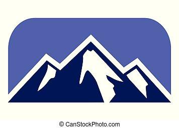 montagne, logo, vecteur, dsign