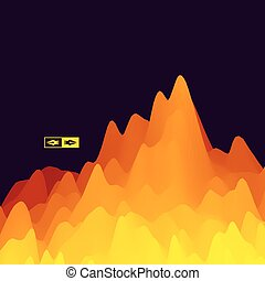 montagne, montagneux, paysage., terrain.
