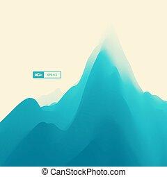 montagne, montagneux, terrain, paysage.