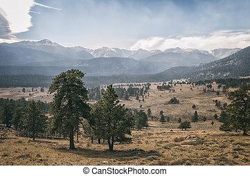 montagne, nazionale, parco, roccioso, paesaggio