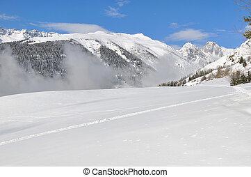 montagne, neige
