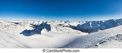 montagne, nevoso, Alpino