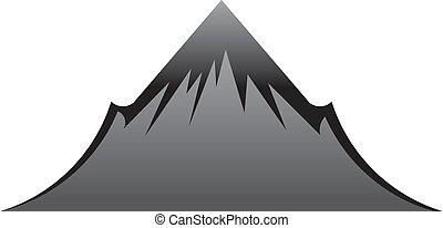 montagne, noir