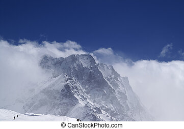 montagne, nubi