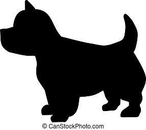 montagne occidentale terrier, icône