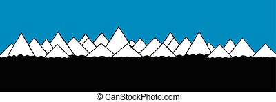 montagne, paesaggio.