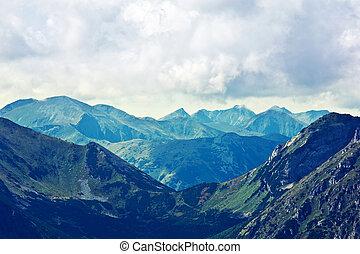 montagne, paesaggio, natura