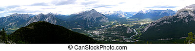montagne, panoramique, 3