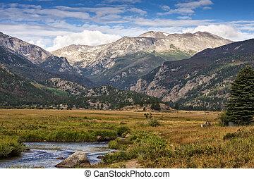 montagne, parc national, rocheux