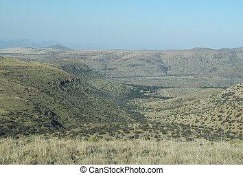 montagne, parc national, zebra