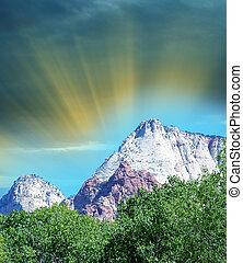 montagne, parco nazionale, stati uniti