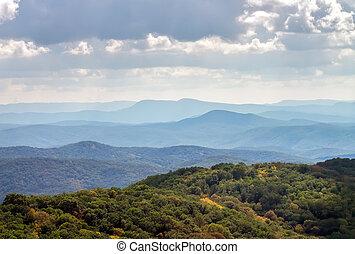 montagne, paysage., composition, de, nature