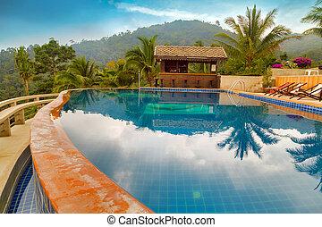 montagne, piscine, recours