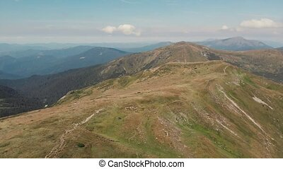 montagne, ridge., vue