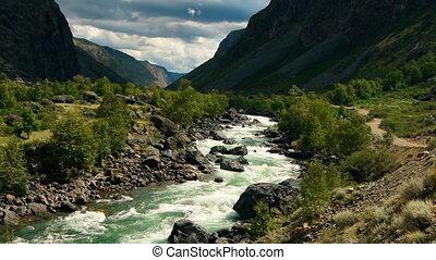 montagne, rivière, 10
